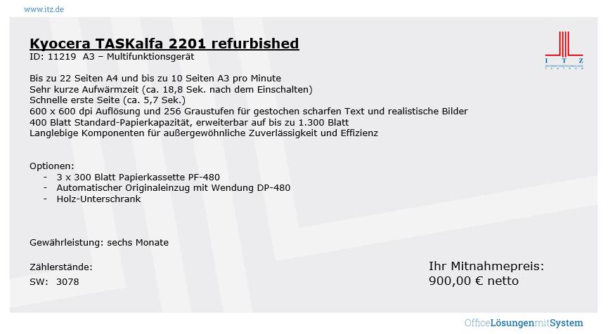 ITZ Gebrauchtgeräte Kyocera TASKalfa 2201