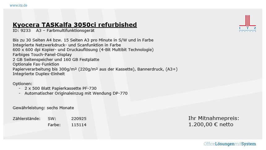 ITZ Gebrauchtgeräte Kyocera TASKalfa M3040idn