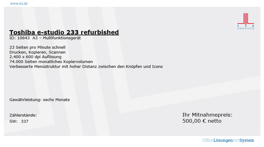 ITZ Gebrauchtgeräte Toshiba e-studio 233