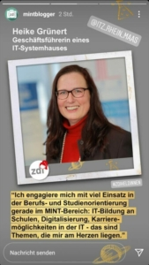 zdi-Heldin Heike Grünert