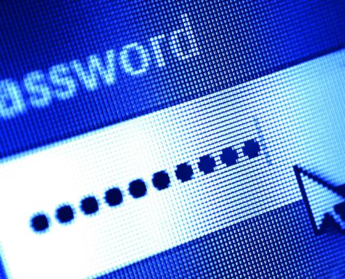 Passworteingabe am Bildschirm